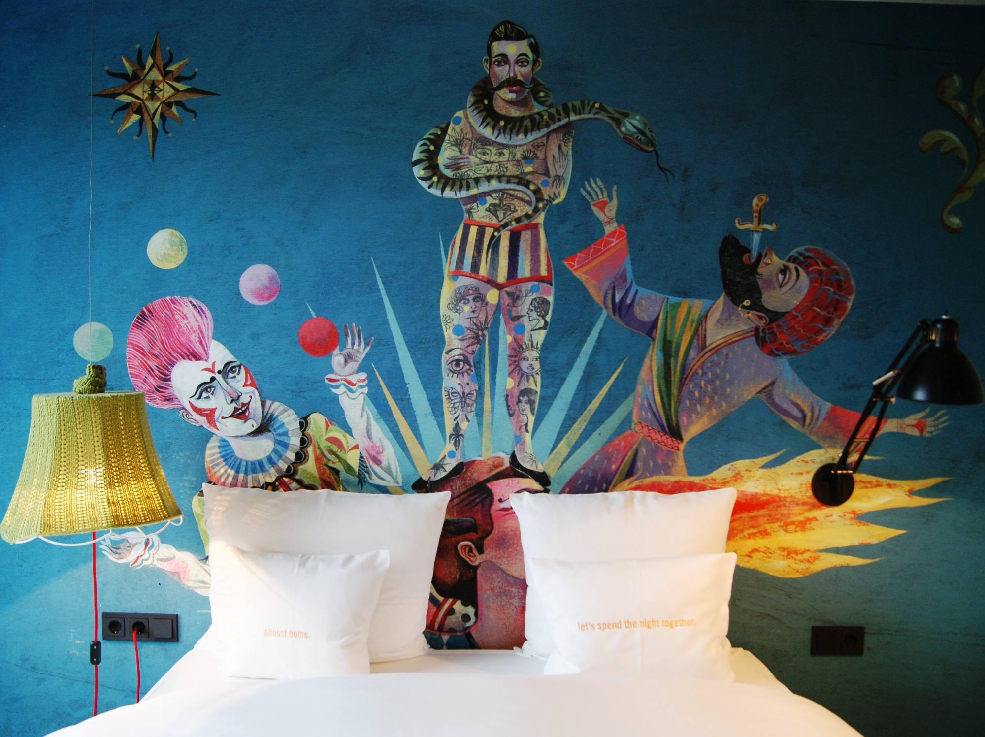 Circus murals in all rooms of 25hours Hotel beim MuseumsQuartier