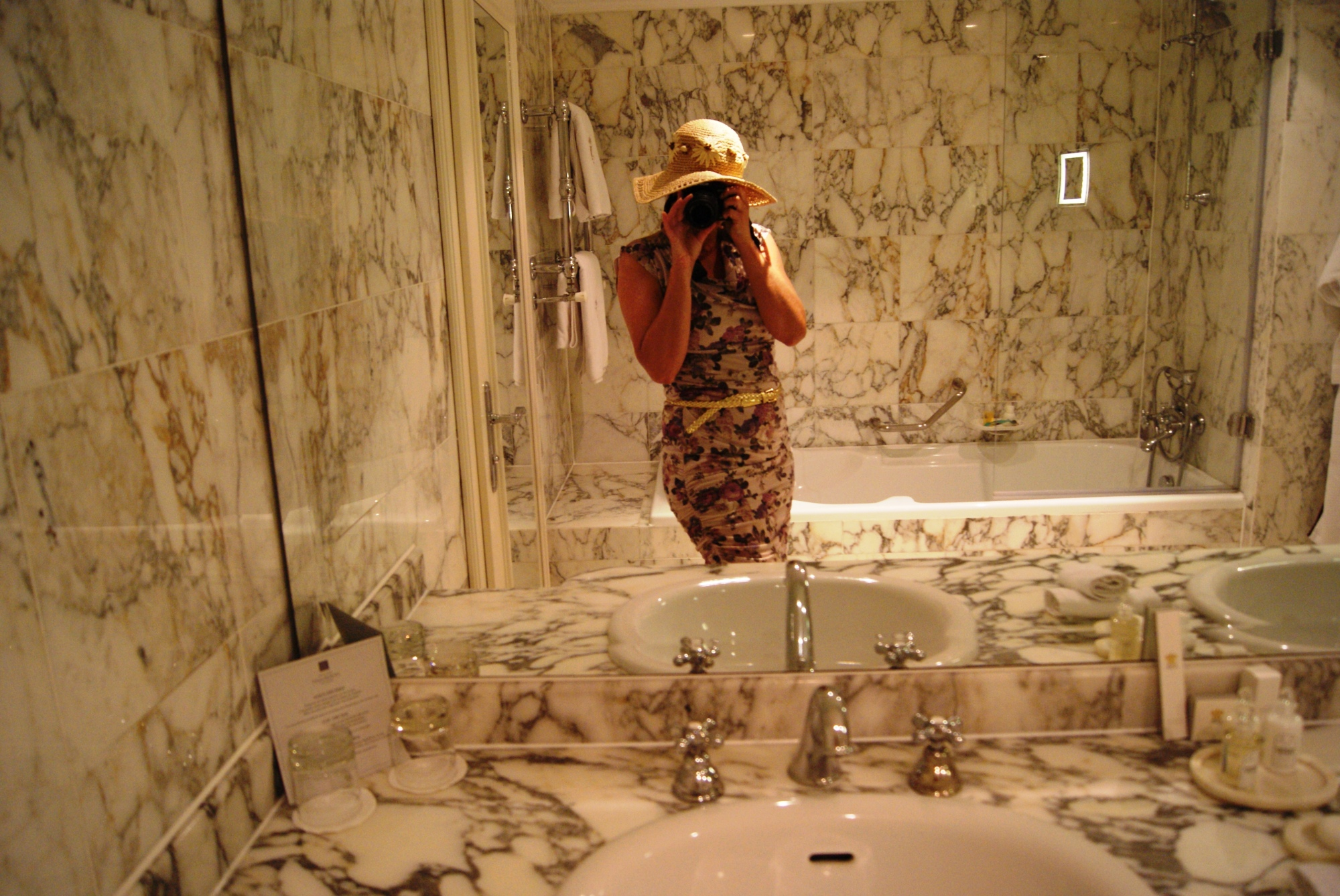 Althoff hotel Villa Belrose marble bathroom