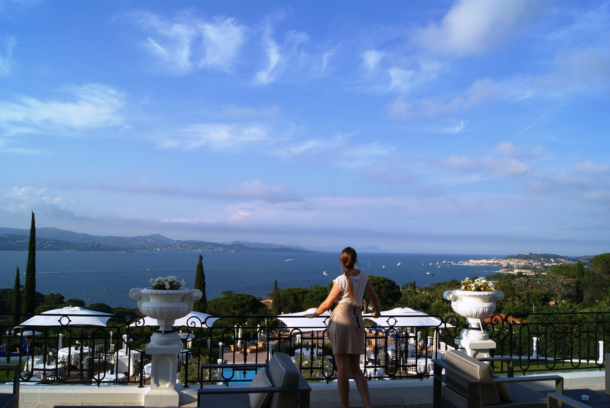 Althoff hotel Villa Belrose terrace view