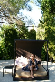 Chilling at Le Mas Candille hotel France (2)