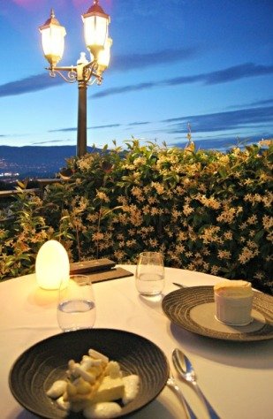 Le Candille dinner with a view