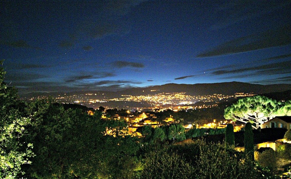 Le Mas Candille hotel Grasse night views