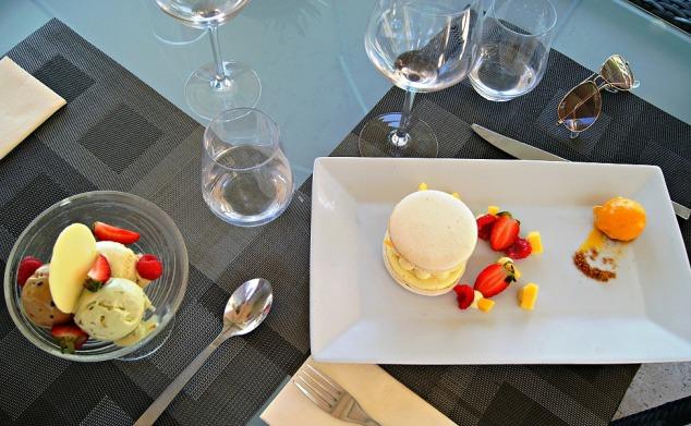 La Pergola ,acaron dessert at French Riviera Hotel Le Mas Candille