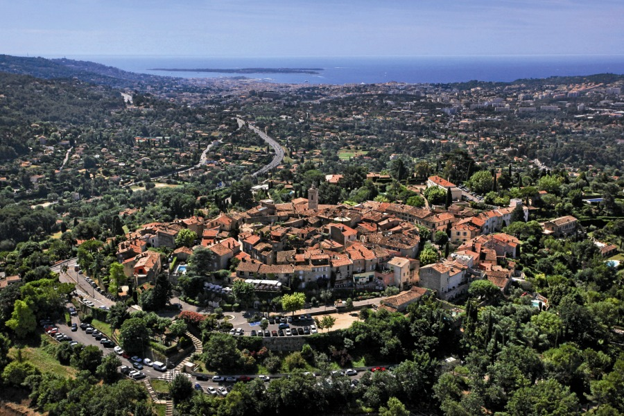 Mougins France view from above