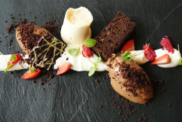 Dessert restaurant de Prinsenhof Résidence Groot Heideborgh in Garderen