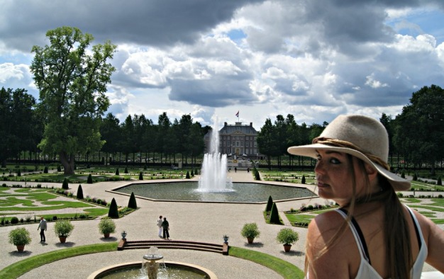 Looking out over the Palace Gardens of het Loo