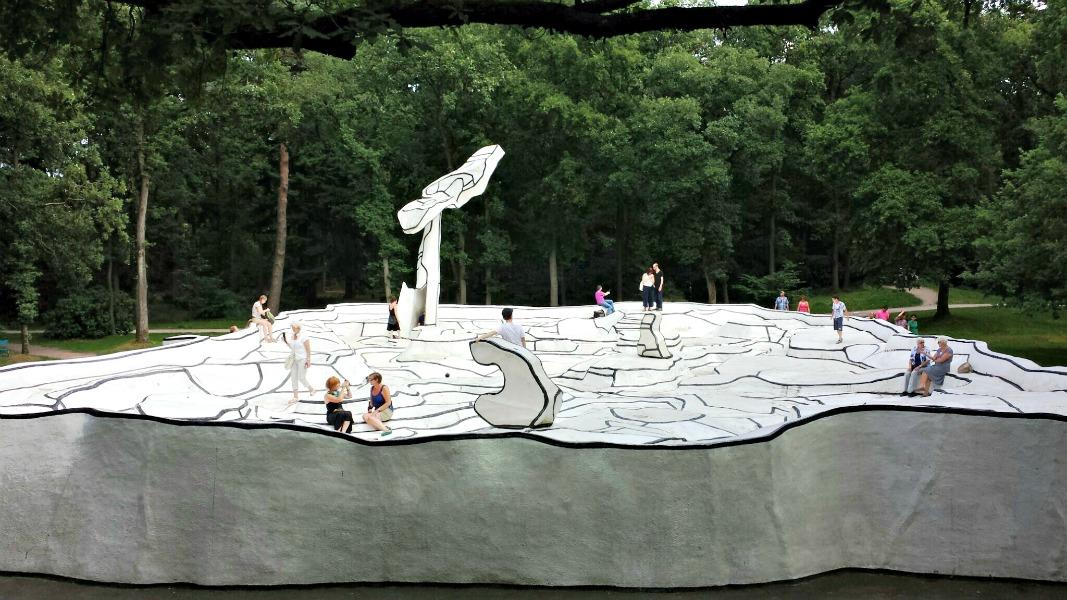 Sculpture gardens at Kroller Moller museum Arnhem