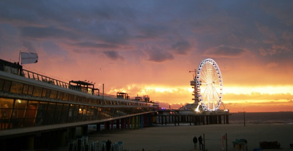 Scheveningen beach Holland sunset (1)