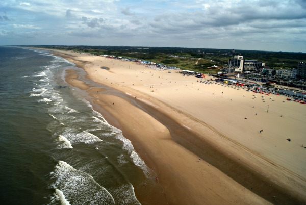 Scheveningen beach view from ferriswheel Holland (1)