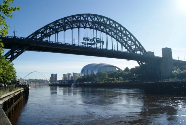 2 of the iconic bridges and Sage Gateshead